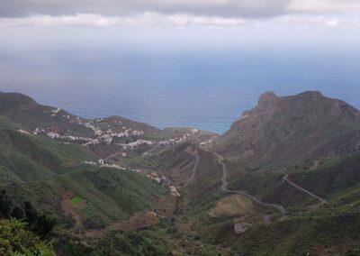 výhled na hory a moře