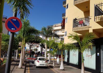 ulice s palmami v Los Cristianos