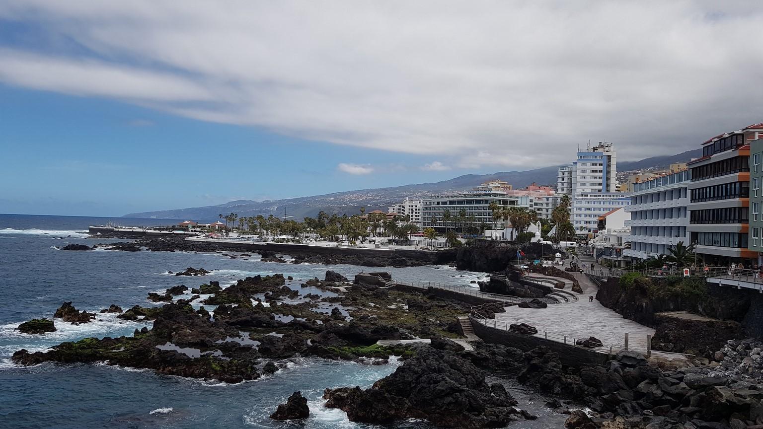 výhled na pobřeží Puerto de la Cruz