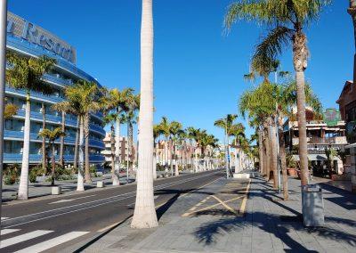 prázdná ulice v Las Americas