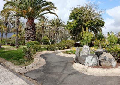 prázdný park v Las Americas
