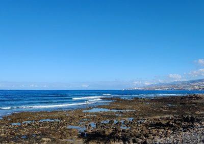 výhled na moře při odlivu