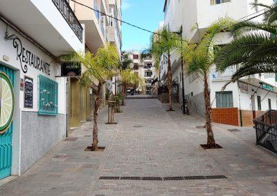 prázdná ulice v Los Cristianos