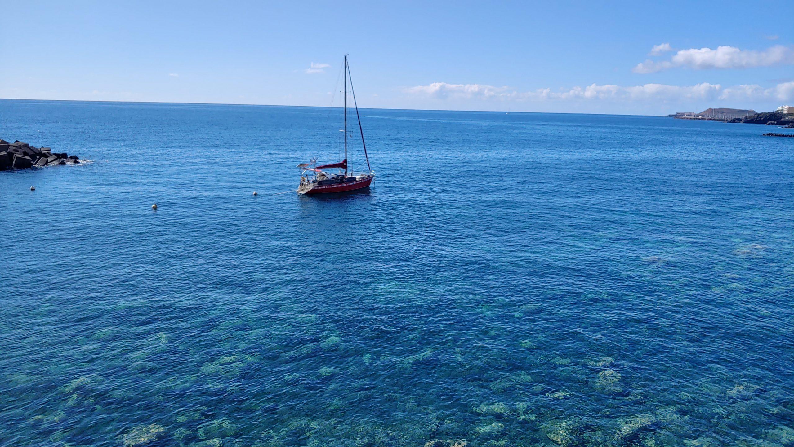 loď na Tenerife